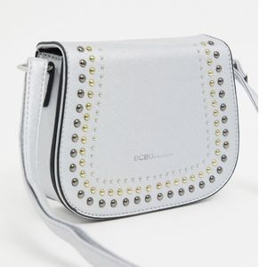 BCBGeneration Sarah Silver Crossbody Purse